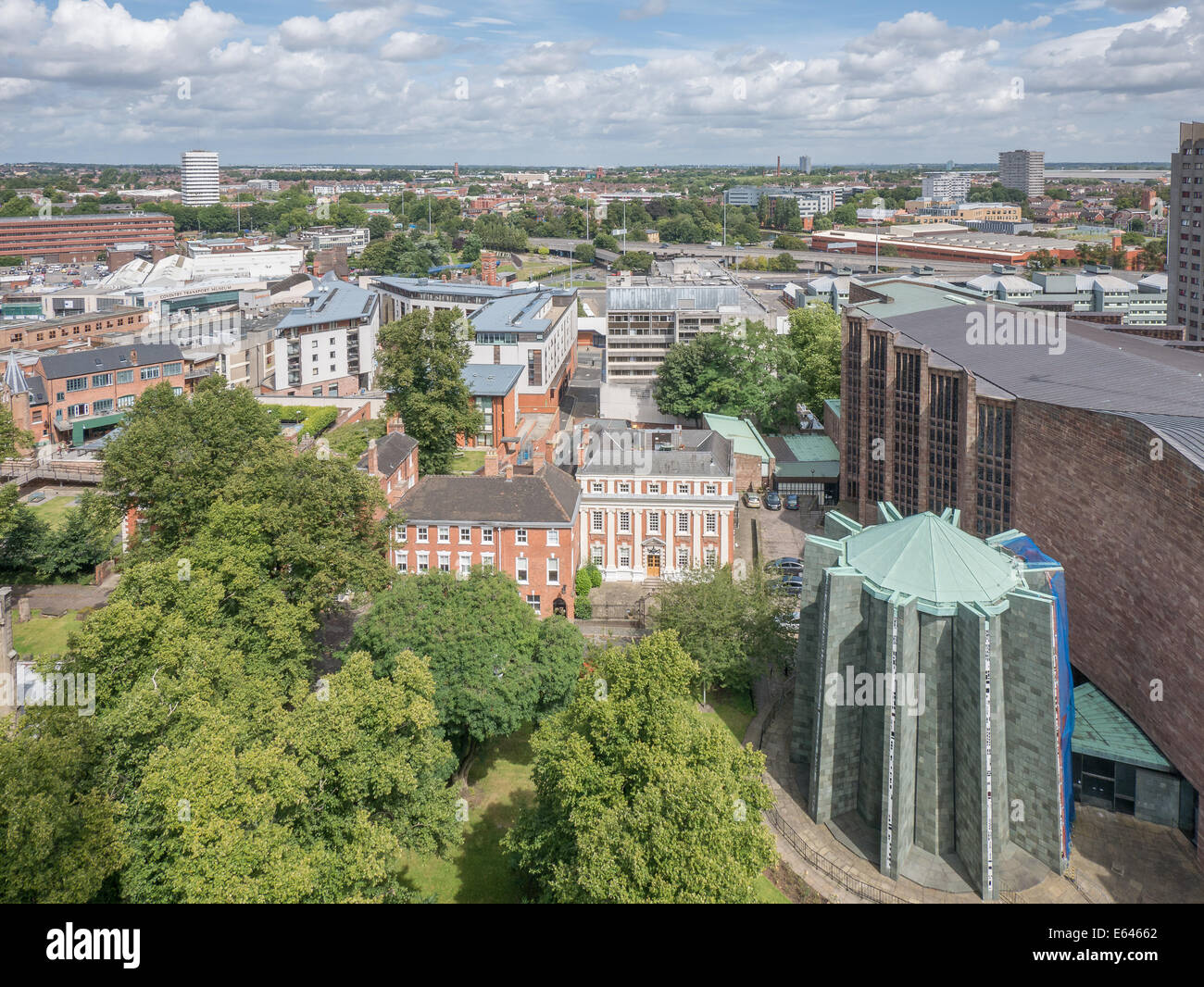 Coventry north as seen from the old cathedral. - Stock Image