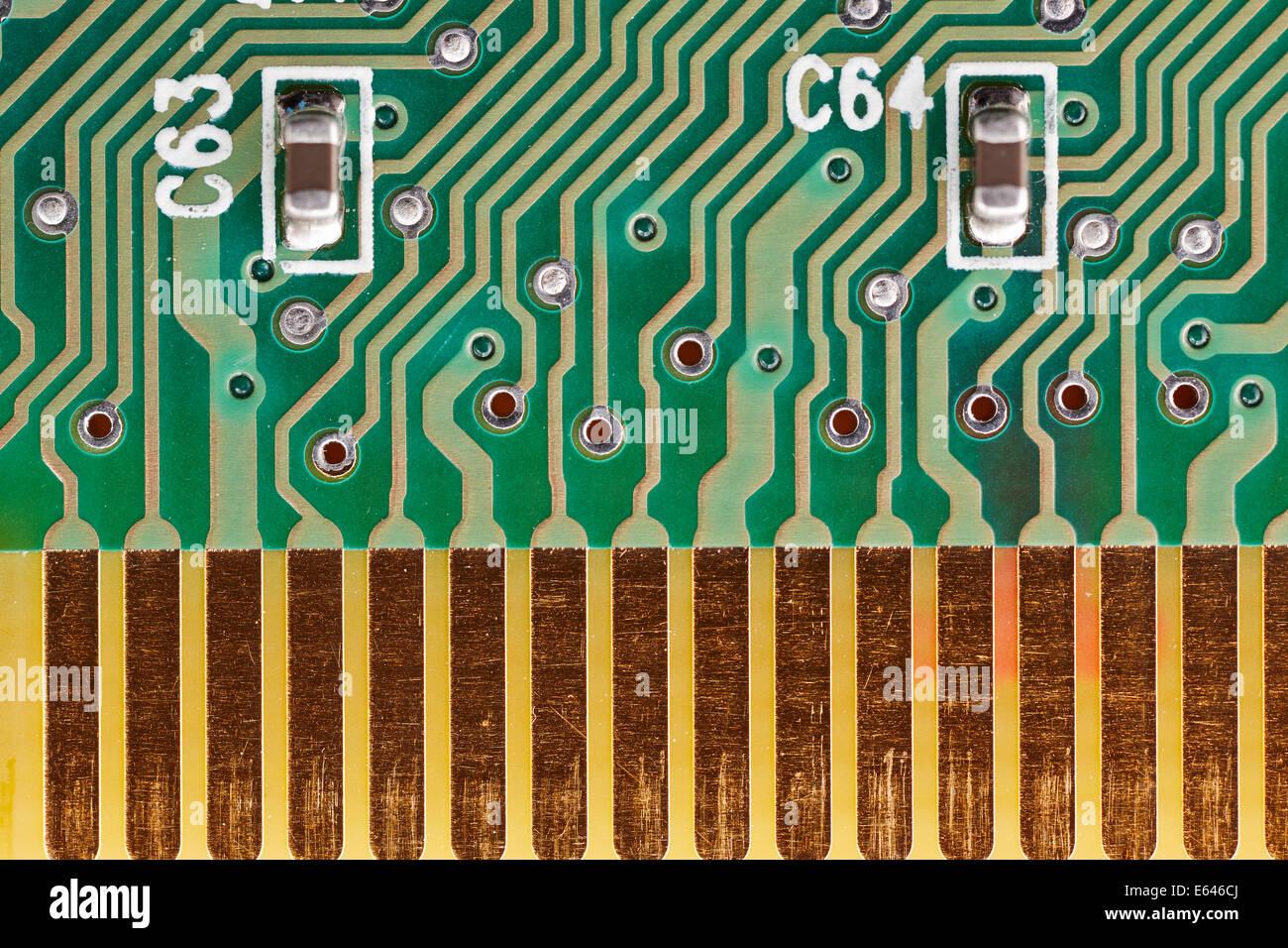 Printed circuit board close up detail. - Stock Image