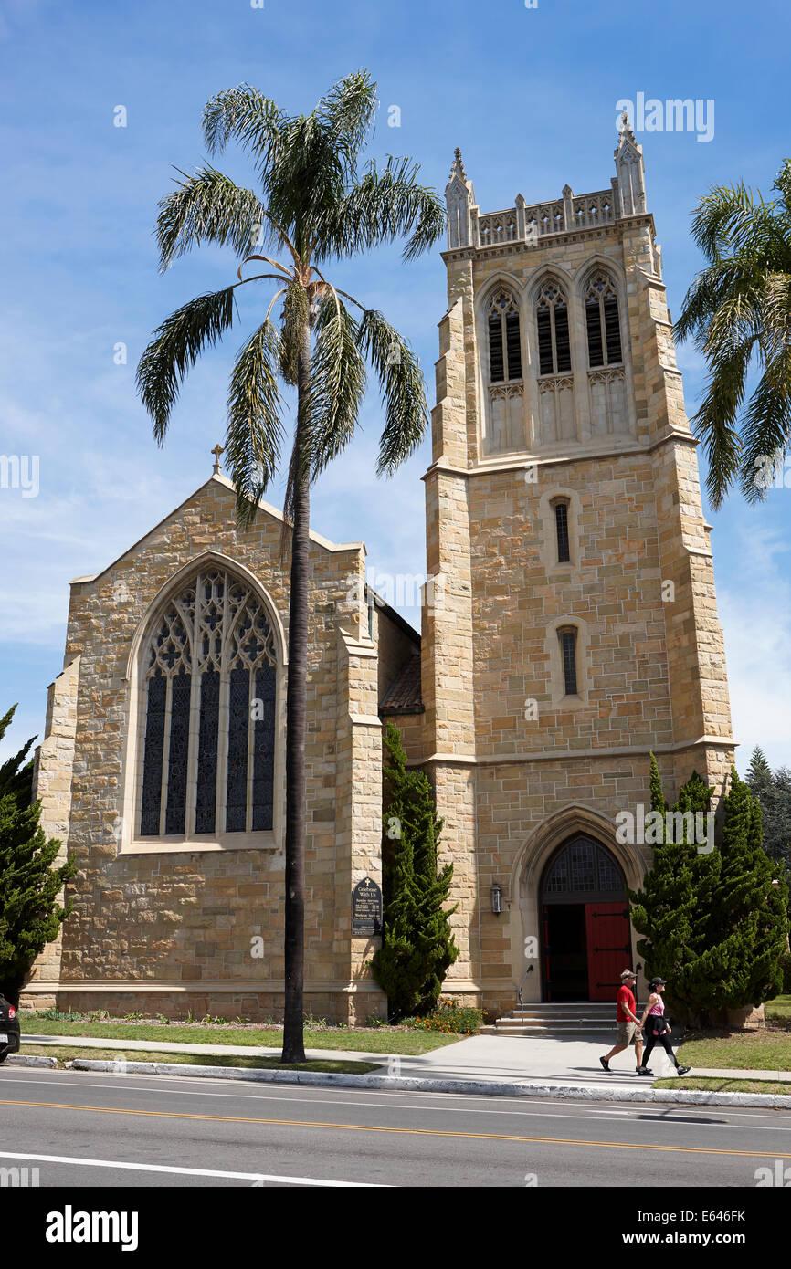 Trinity Episcopal Church. Santa Barbara, California, USA. - Stock Image