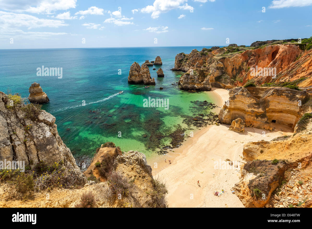 Praia do Camilo, Beach, Lagos, Algarve, Portugal - Stock Image