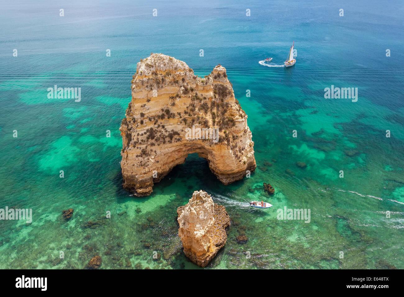 Ponta da Piedade near Lagos, Algarve, Portugal - Stock Image