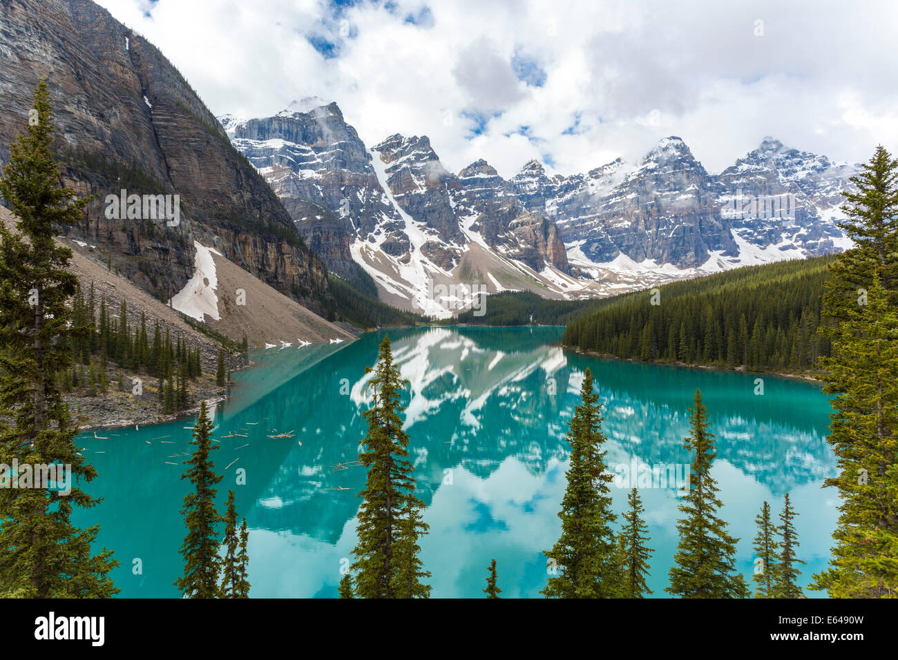 Moraine Lake & The Valley of the Ten Peaks, Banff National Park, Alberta, Canada - Stock Image