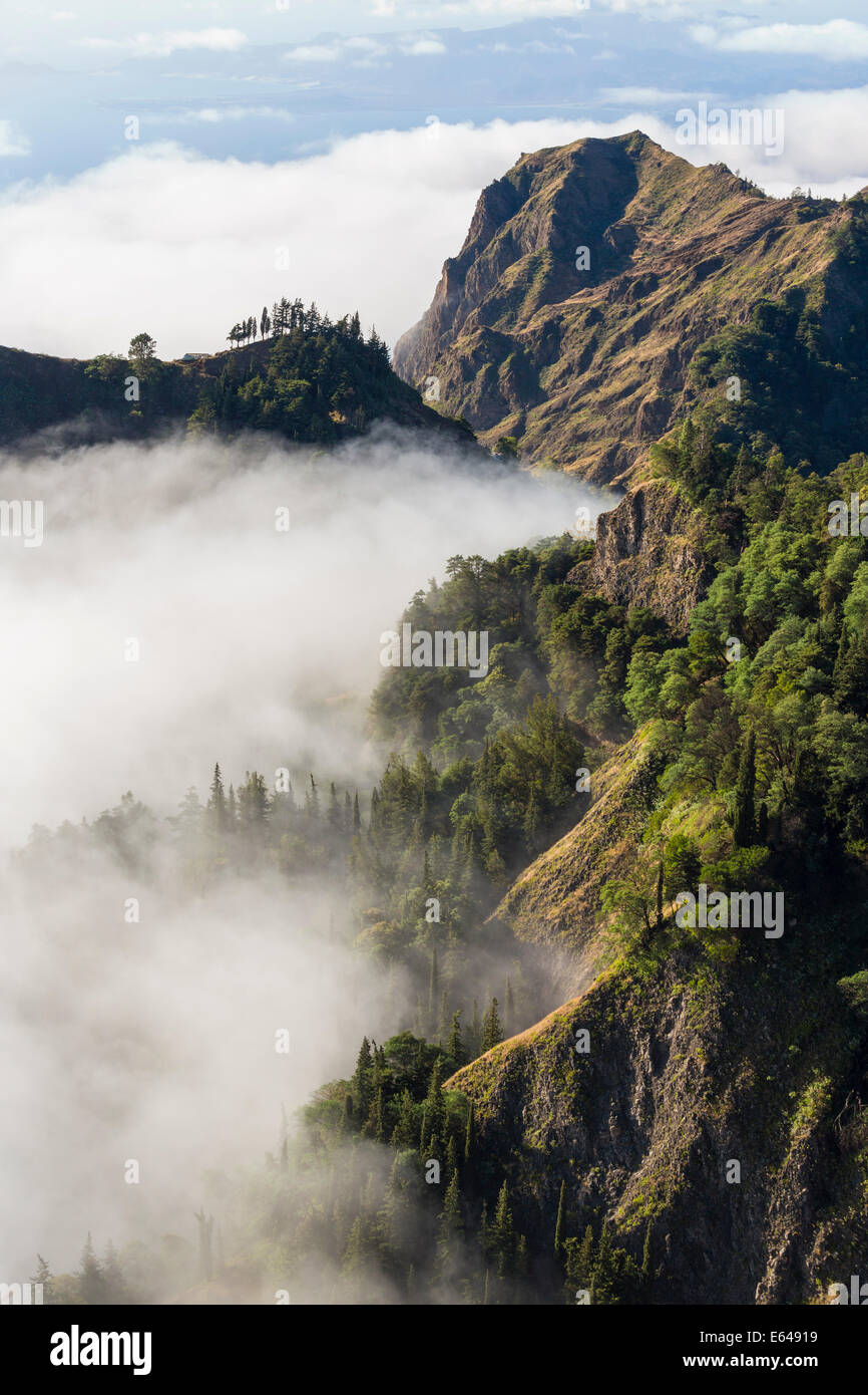 Mountains above the clouds, Santo Antao, Cape Verde Stock Photo