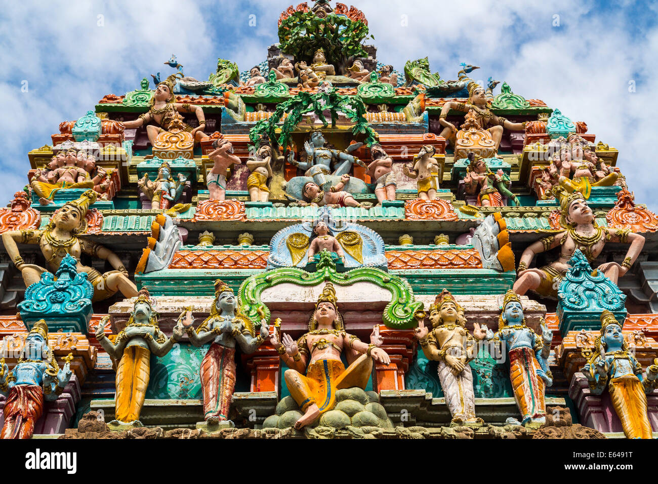 Kapaleeswarar Hindu Temple, Chennai, (Madras), Tamil Nadu, India - Stock Image