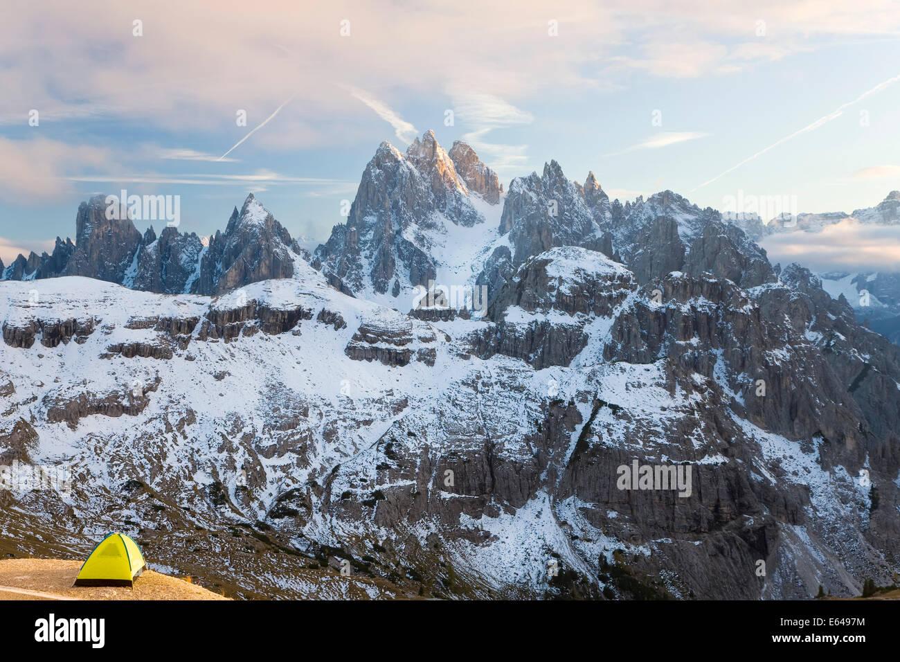 Italy Italia Trentino-Alto Adige South Tyrol Bolzano district Alta Pusteria Hochpustertal Dolomiti di Sesto Natural - Stock Image