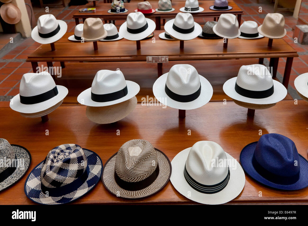 f0f62915 Panama Hats, Cueneca, Ecuador. Cueneca is known for the manufacture of Panama  Hats