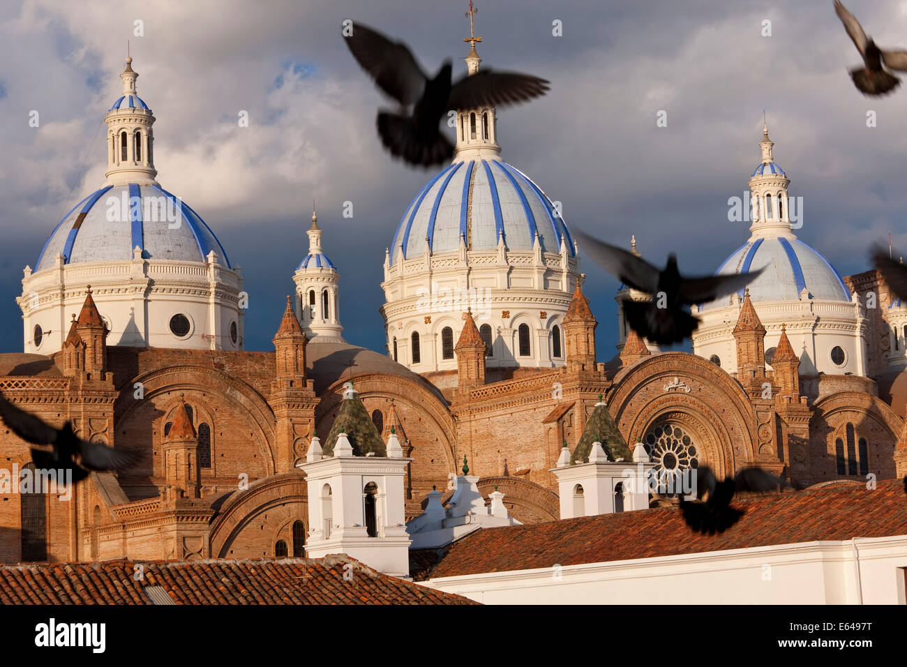 Cathedral of the Immaculate Conception, built in 1885, Cuenca, Ecuador - Stock Image