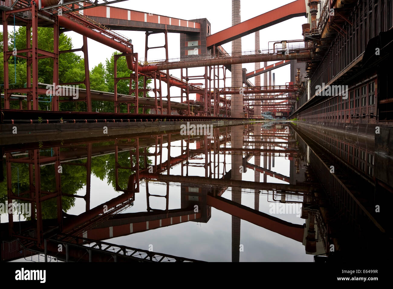 Coking Plant, Kokerei Zollverein, Essen, Ruhr Valley, Ruhr, Northrhine Westphalia, Germany - Stock Image
