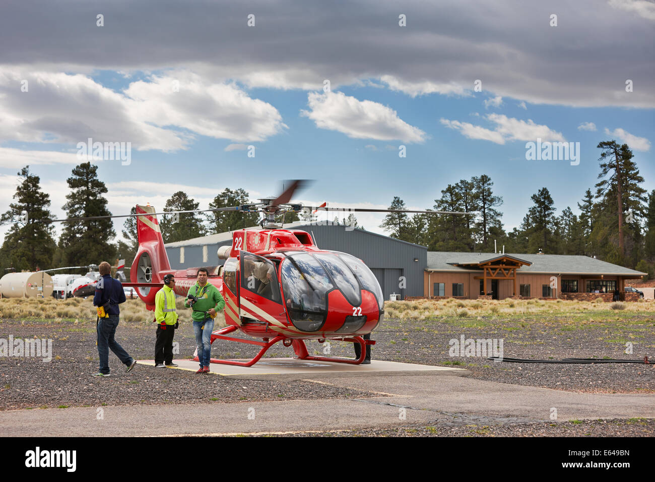 Heliport in Grand Canyon Village. Arizona, USA. - Stock Image