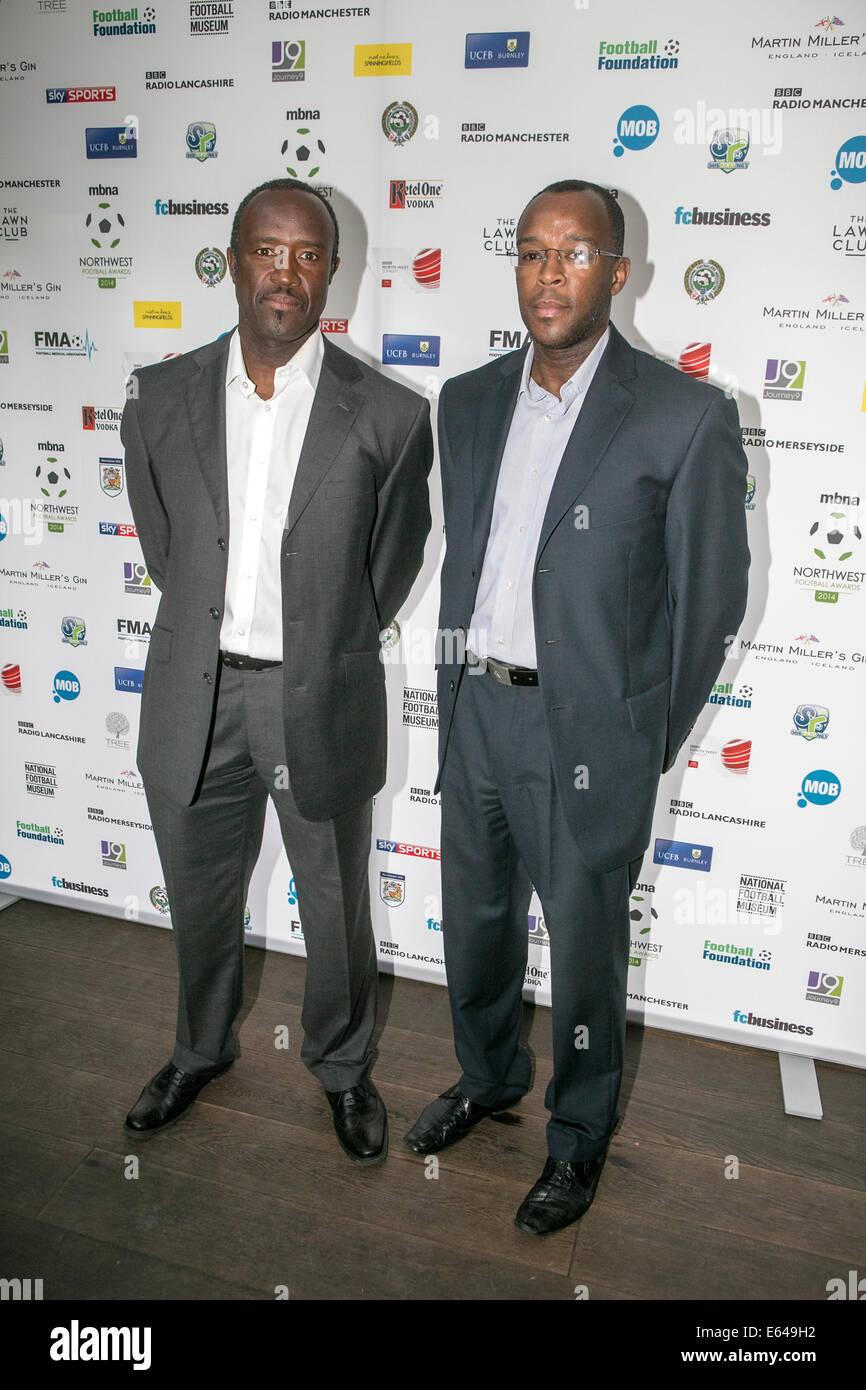 13-08-14  Former MCFC player Earl Barrett and brother Floyd Barrett - Stock Image