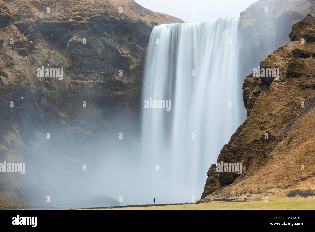 Skogafoss waterfall south west Iceland - Stock Image