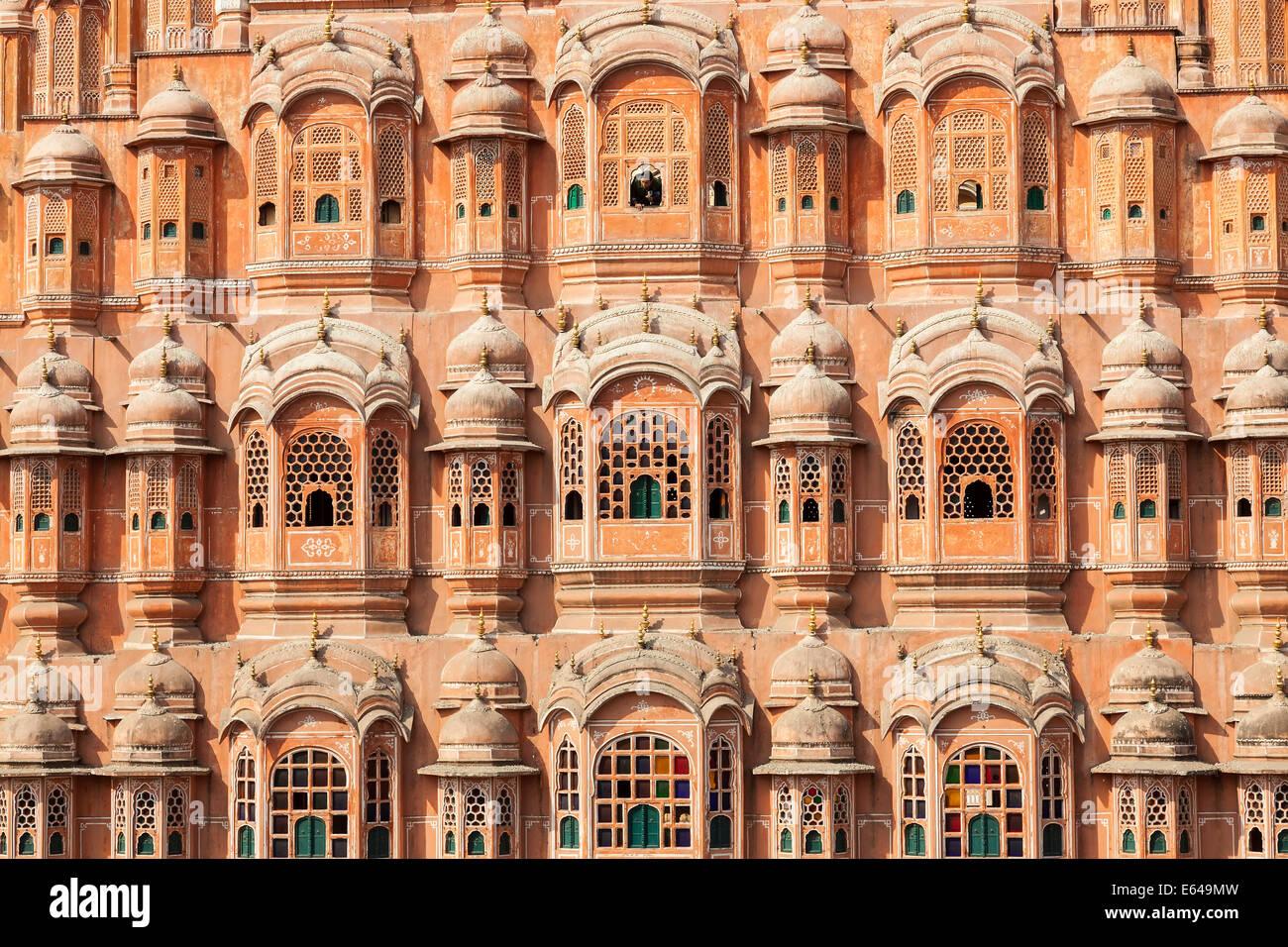 Palace of the Winds (Hawa Mahal), Jaipur, Rajasthan, India - Stock Image
