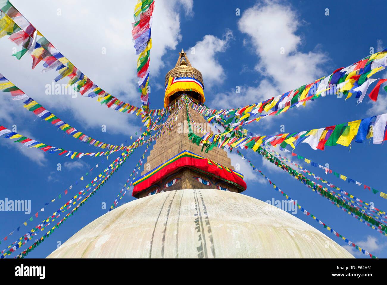 Bodnath Stupa, Kathmandu Valley, Nepal - Stock Image