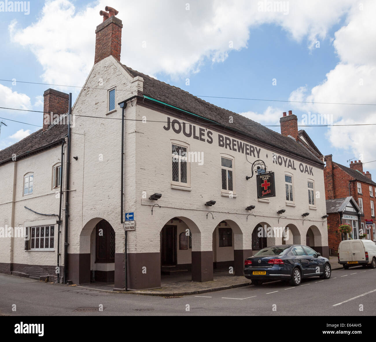 The Royal Oak public house a Joules Brewery pub in Eccleshall Staffordshire England UK - Stock Image