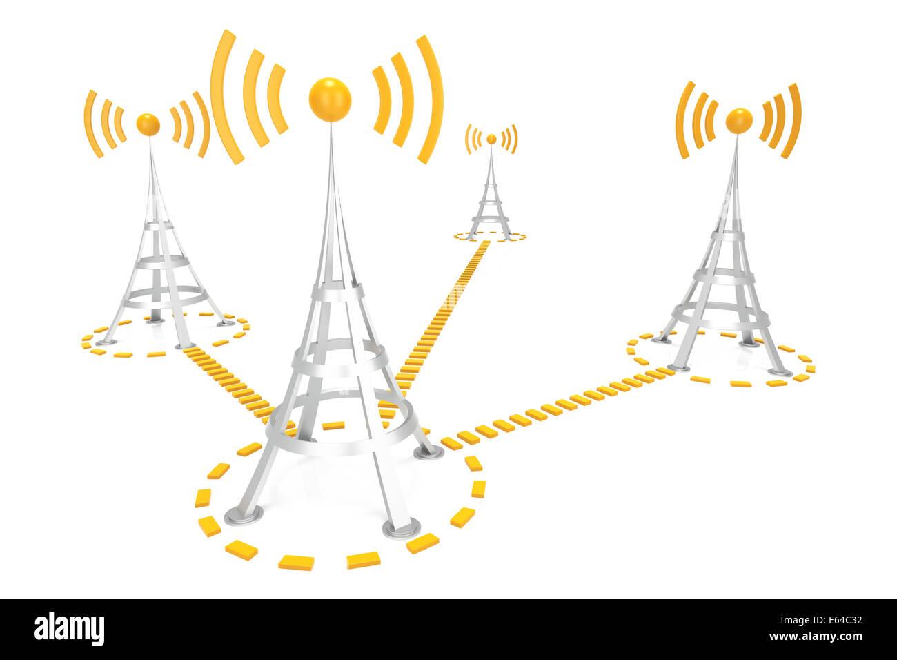 Wifi Network - Stock Image