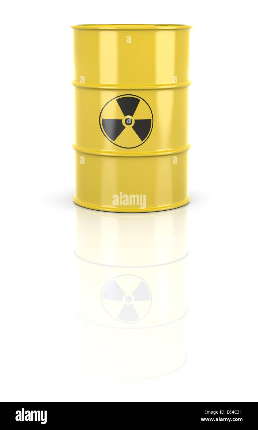 Radioactive Barrel - Stock Image
