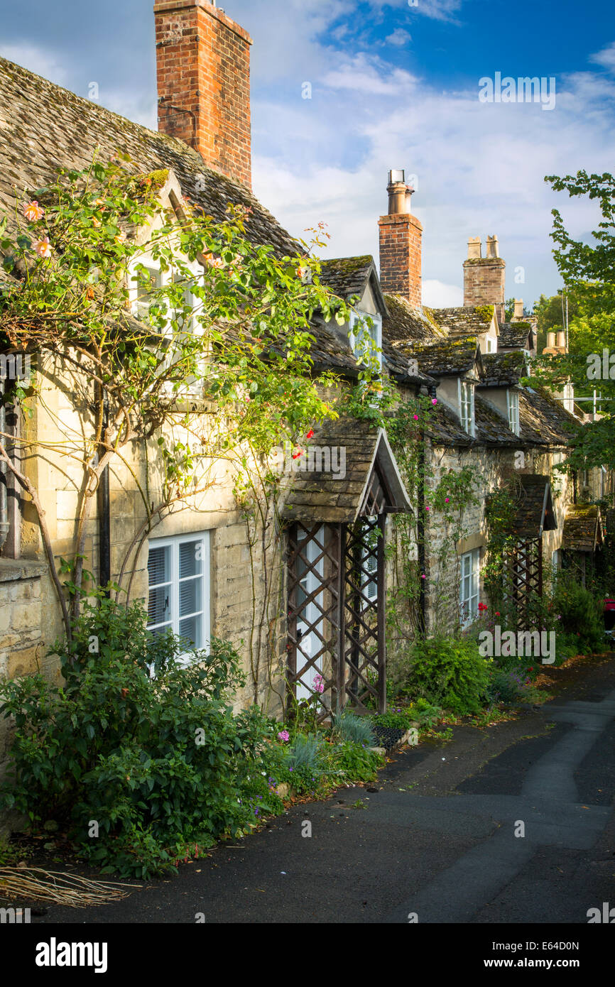 Row of cottages in Winchcombe, Gloucestershire, England Stock Photo