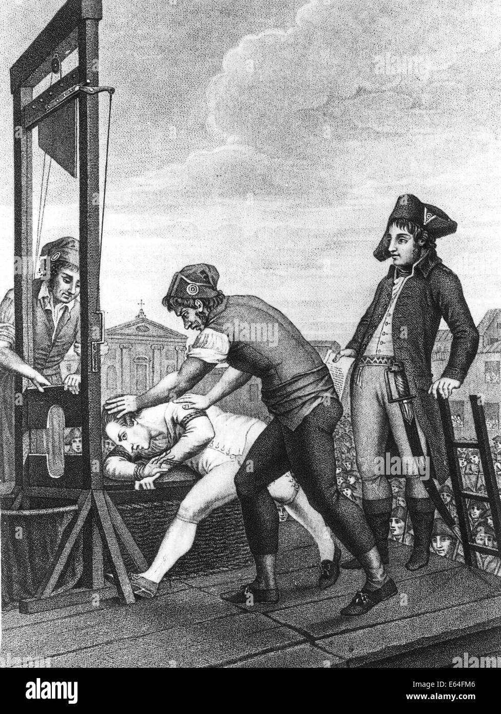 MAXIMILIEN de ROBESPIERRE (1758-1794) French politician executed during he  French Revolution - contemporary print
