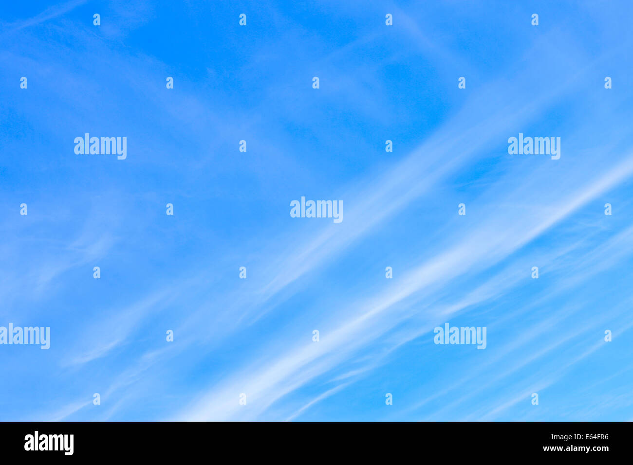Fleecy clouds, may be used as background - Stock Image