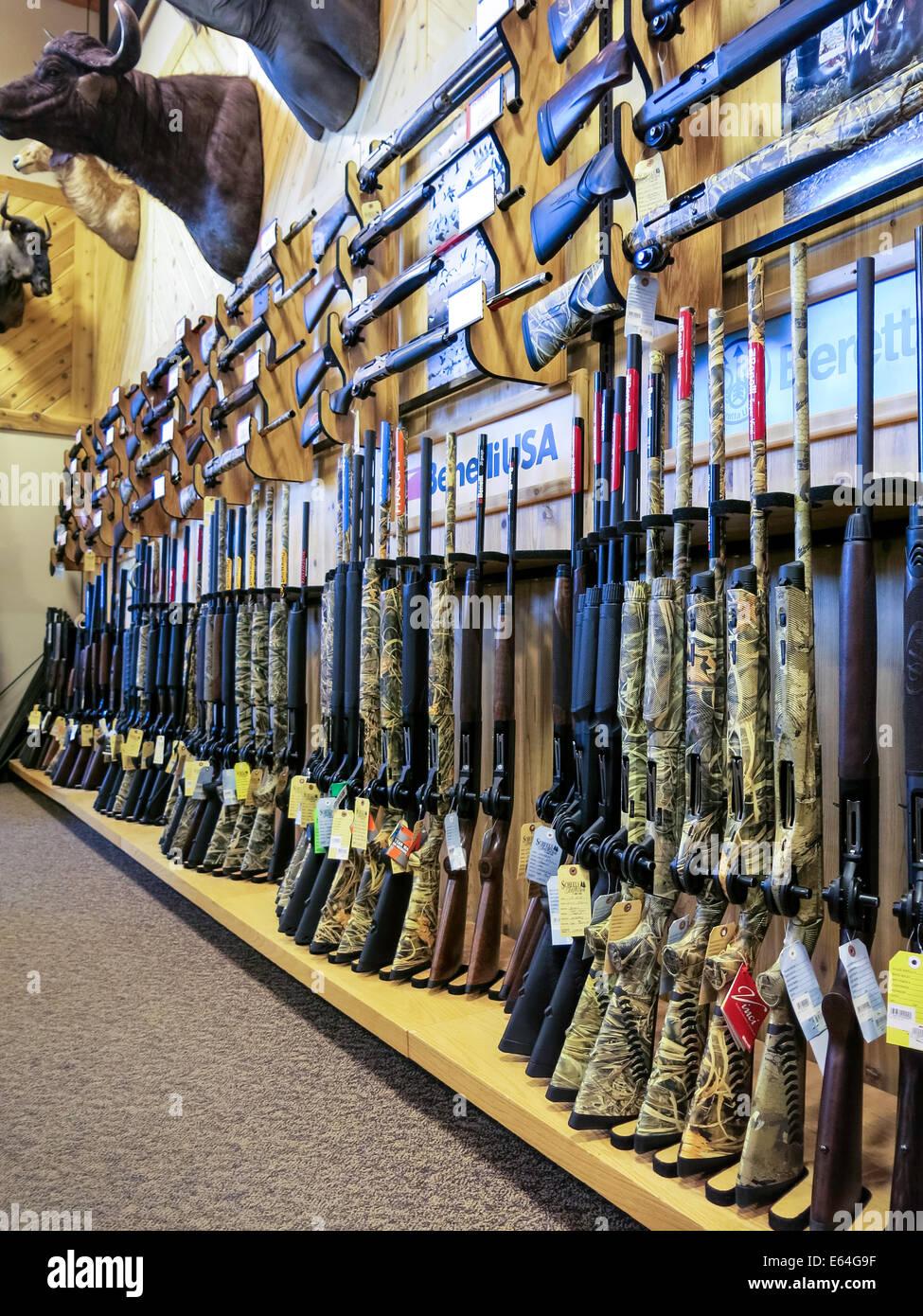 Hunting Rifles, Scheels Sporting Goods Store, Great Falls