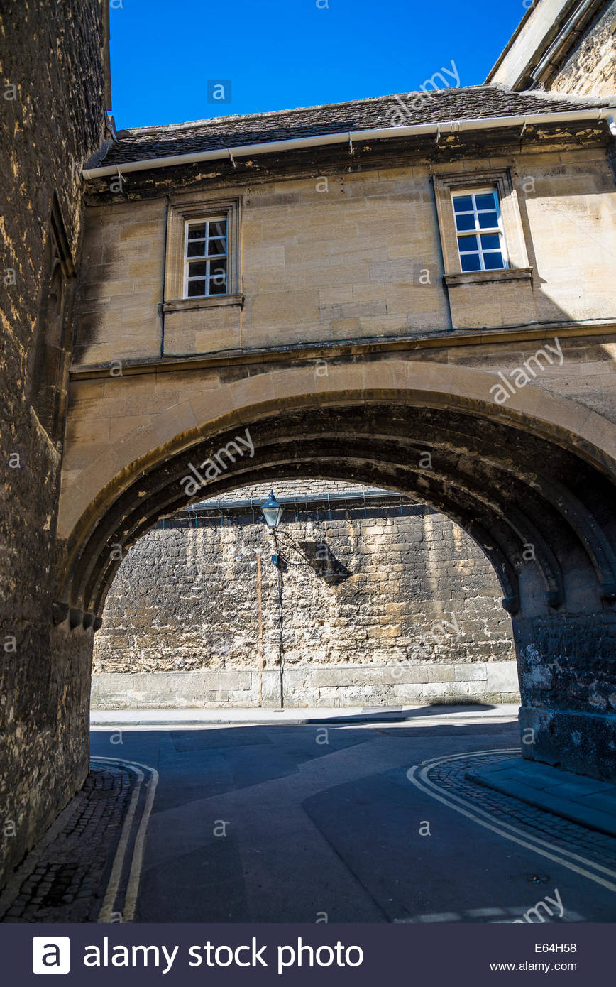 Medieval archway, Oxford, England, UK - Stock Image