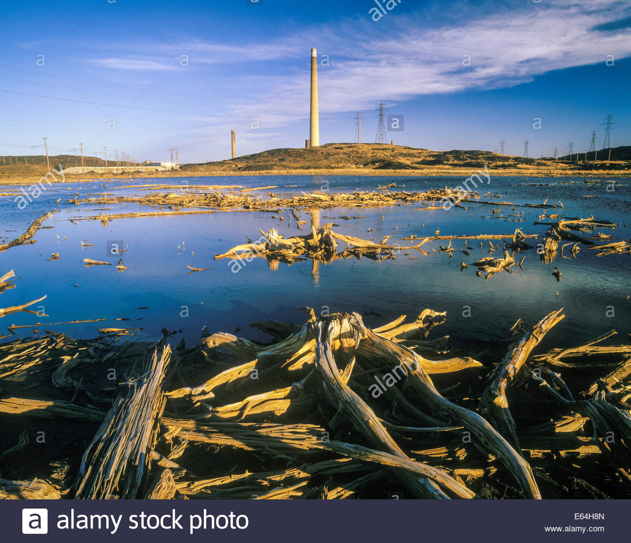 Effects of acid rain from smelter in Sudbury Ontario Canada - Stock Image
