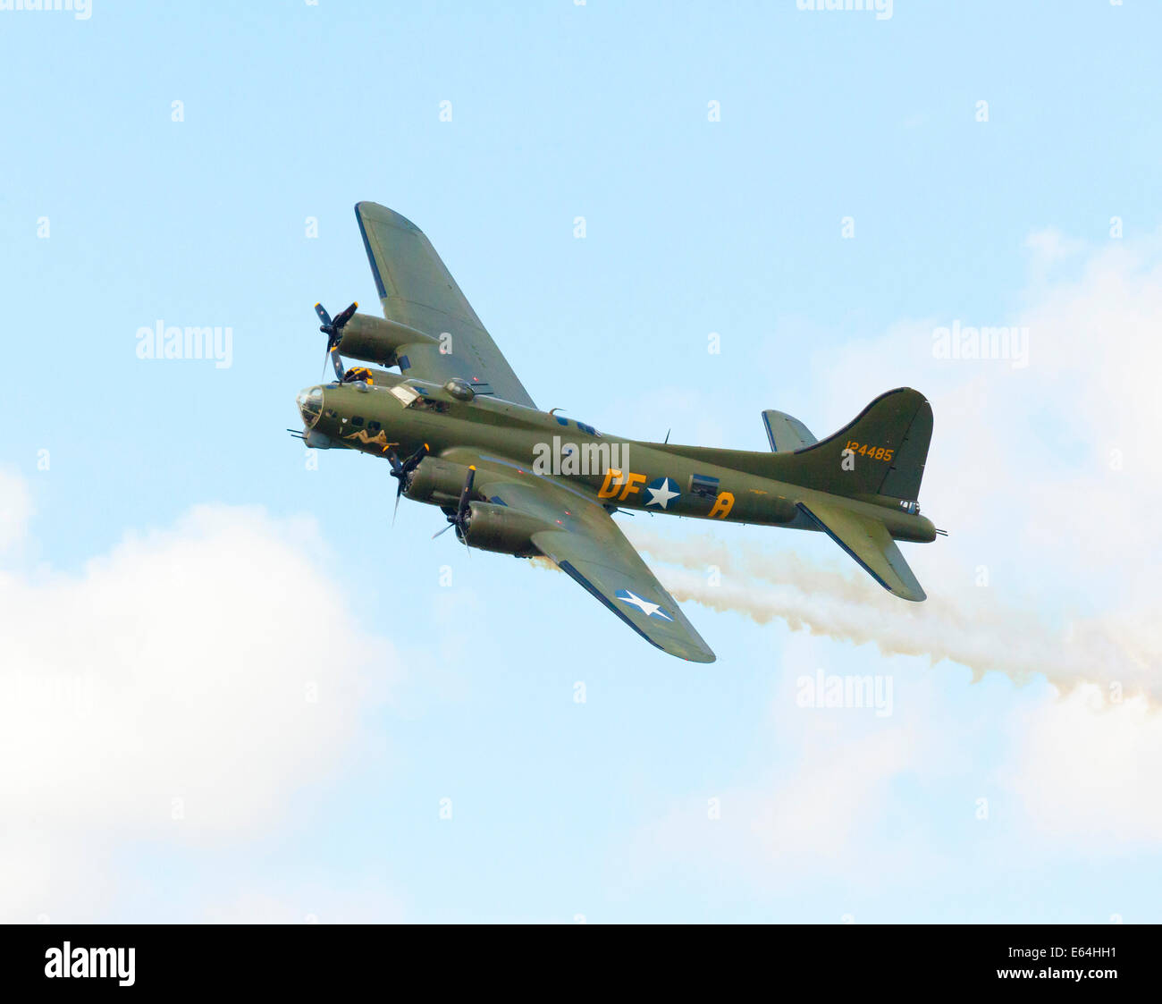 Sally B B17 WW2 bomber in flight - Stock Image