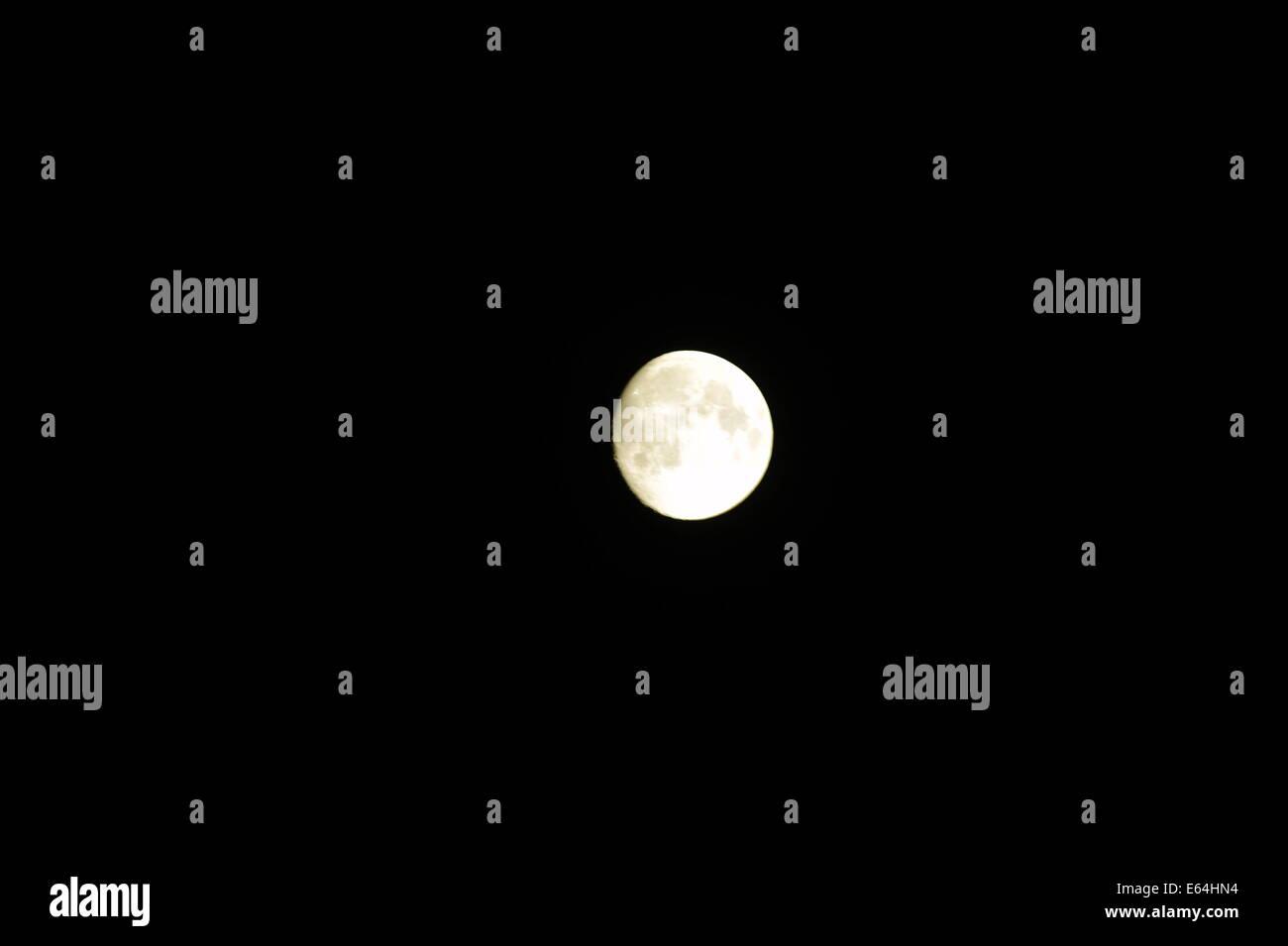 Full Moon, Sunny Beach, Bulgaria. Stock Photo