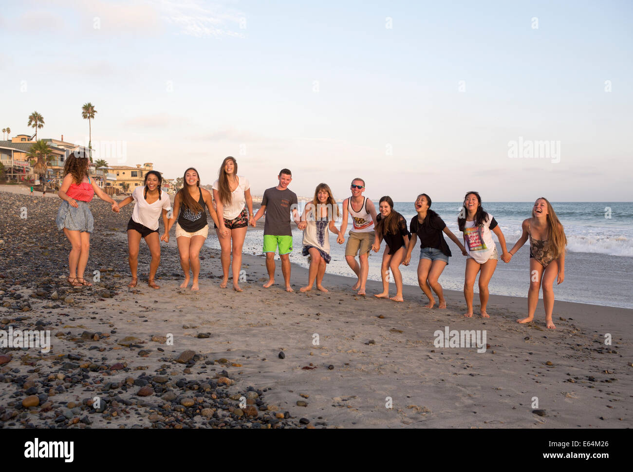 Young adults, teenagers, Capistrano Beach, aka Capo Beach, city of Dana Point, Orange County, California, United States Stock Photo