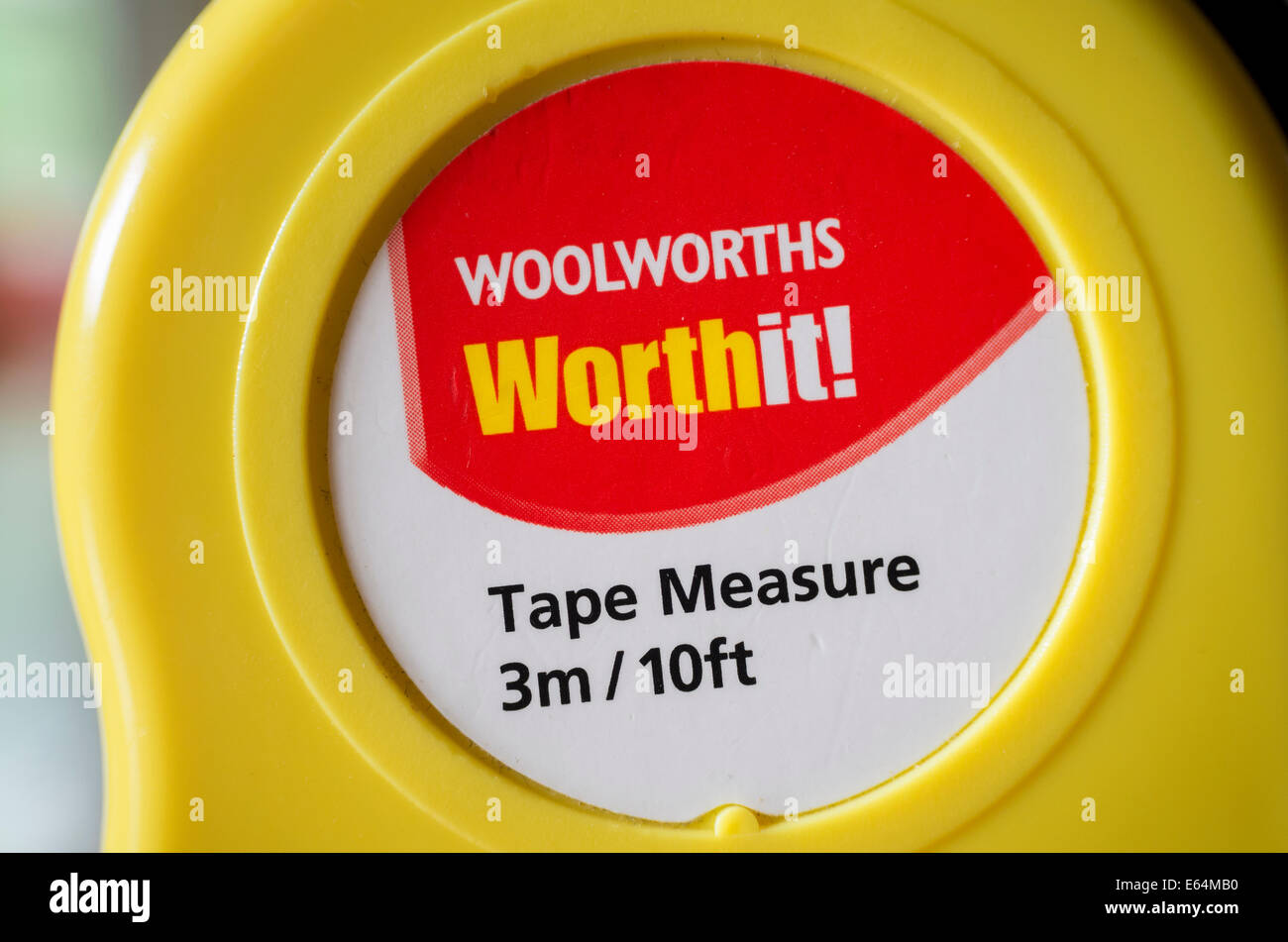 Old Woolworths tape measure - Stock Image