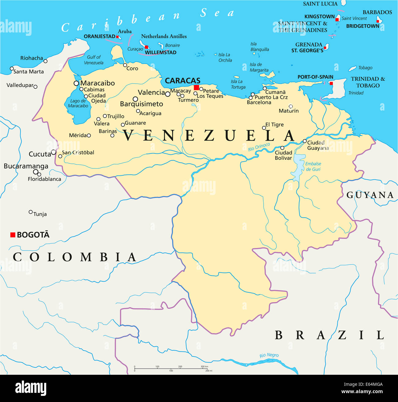 Venezuela Political Map Stock Photo: 72633354 - Alamy on labeled map of pennsylvania, labeled map of united kingdom, labeled map of the u.s, labeled map of tobago, labeled map of nigeria, labeled map of the british isles, labeled map of bodies of water, labeled map of fiji islands, labeled map of switzerland, labeled map of trinidad, labeled map of northern europe, labeled map of the caribbean islands, labeled map of iran, labeled map of new caledonia, labeled map of amazon river, labeled map of indochina, labeled map of western united states, labeled map of syria, labeled map of ussr, labeled map of iraq,
