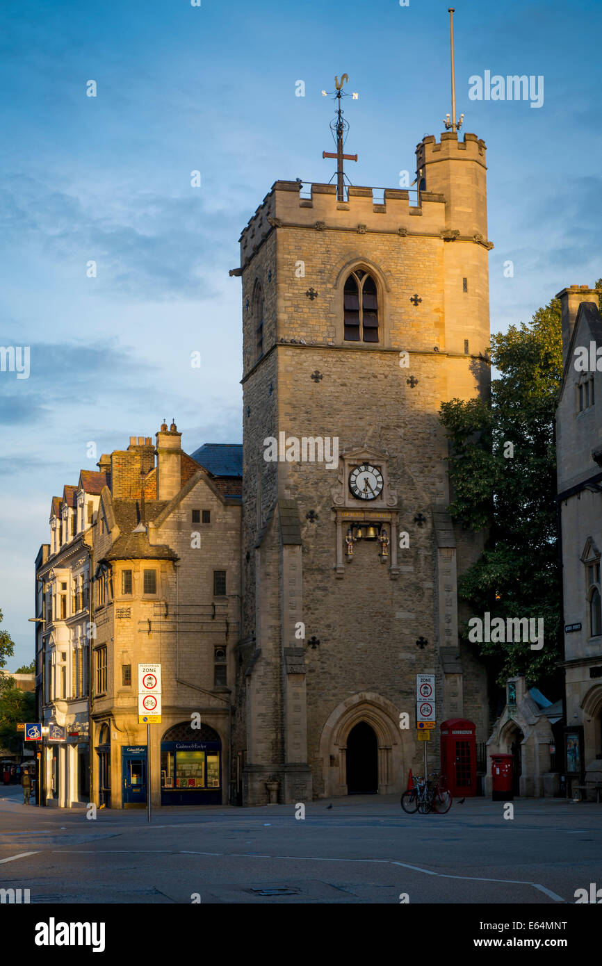 Carfax Tower - remains of 12th century St Martin's Church, Oxford, Oxfordshire, England - Stock Image
