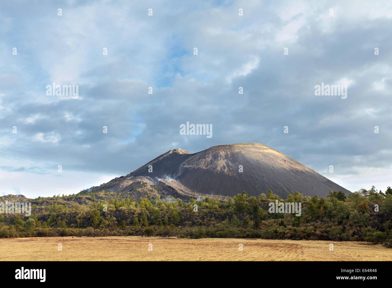 The Paricutin volcano at sunrise in Michoacan, Mexico. - Stock Image