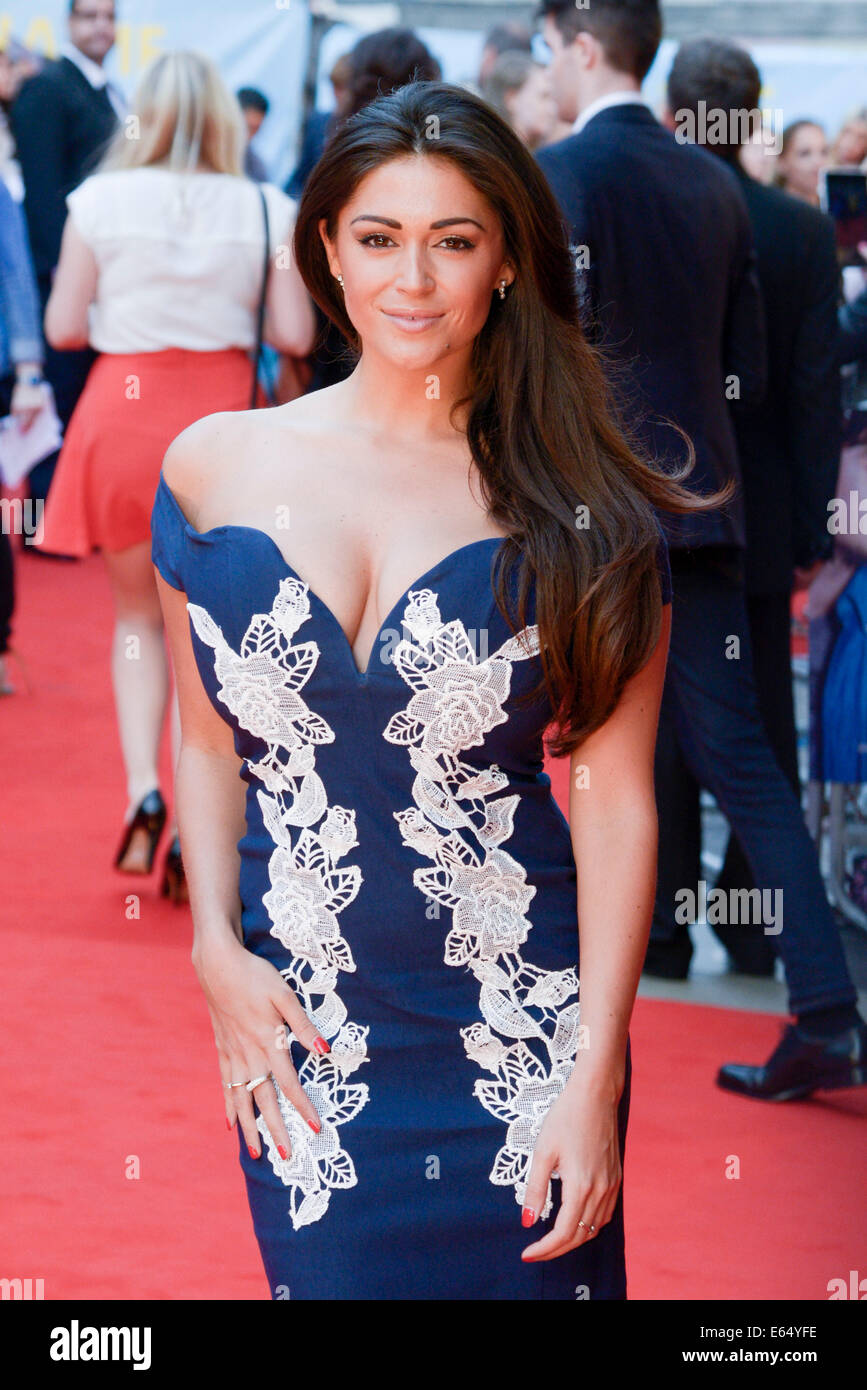 Casey Batchelor attends the UK Premiere of WHAT IF on 12/08/2014 at ODEON West End, Leicester Square, London. Persons - Stock Image