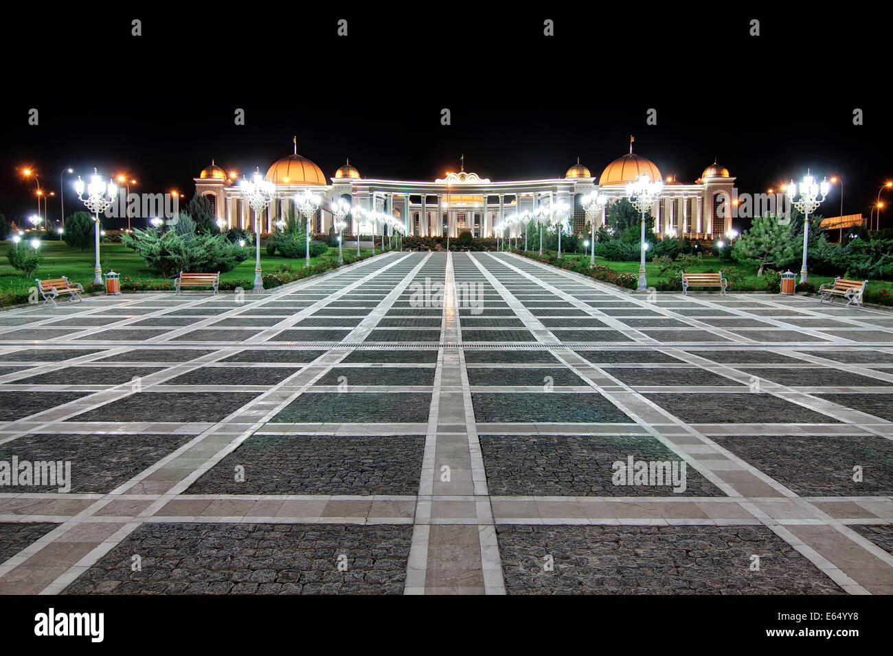 Presidential Palace, Independence Monument, Ashgabat, AgHal, Turkmenistan Stock Photo