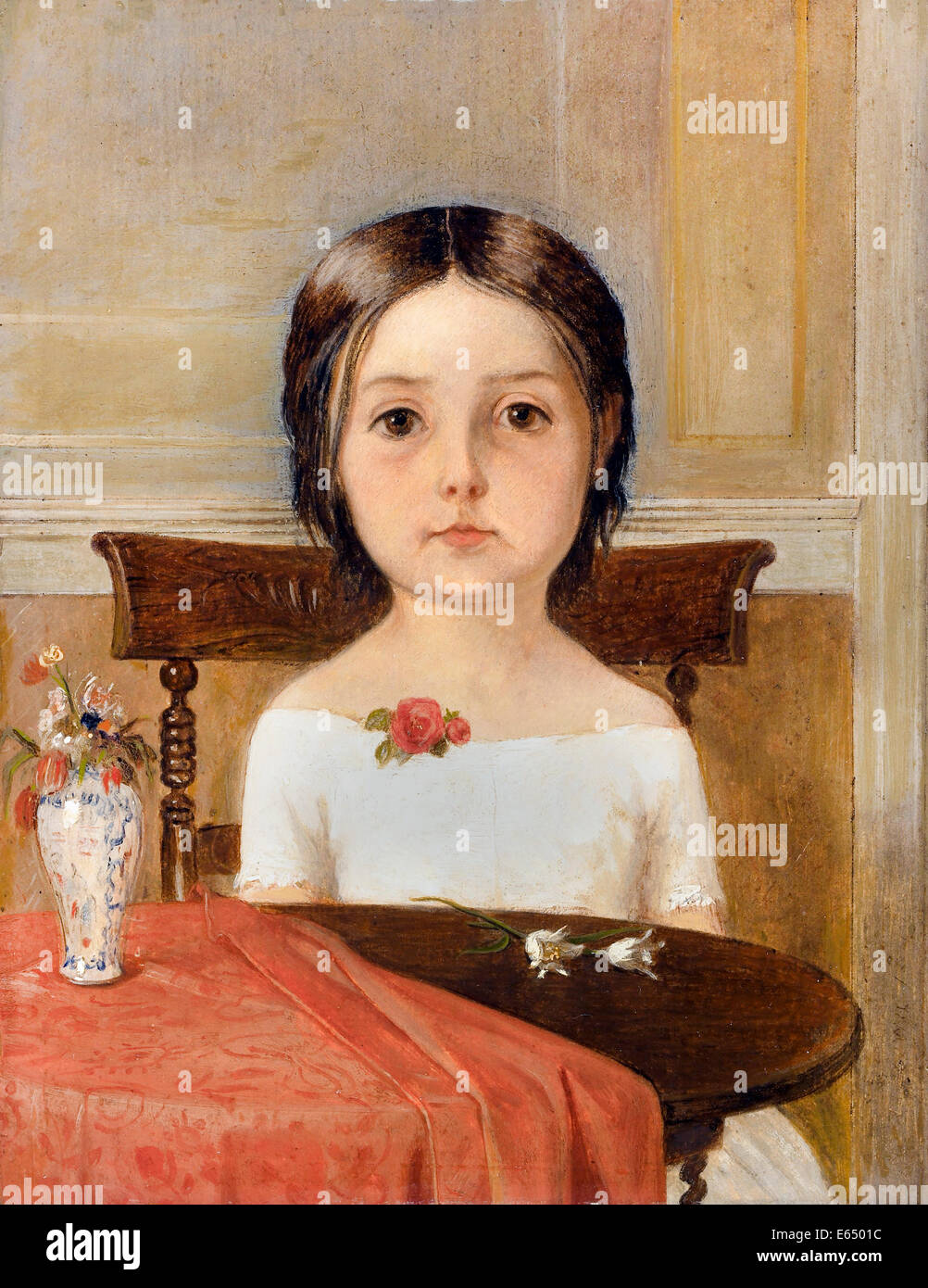 Ford Madox Brown, Millie Smith 1846 Oil on paper. Walker Art Gallery, Liverpool, England. - Stock Image
