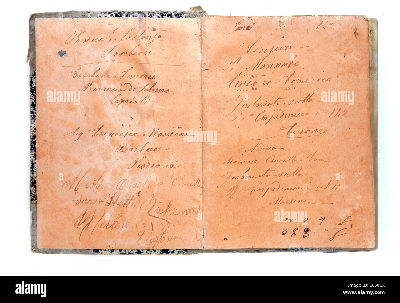 Historic debt register - Stock Image
