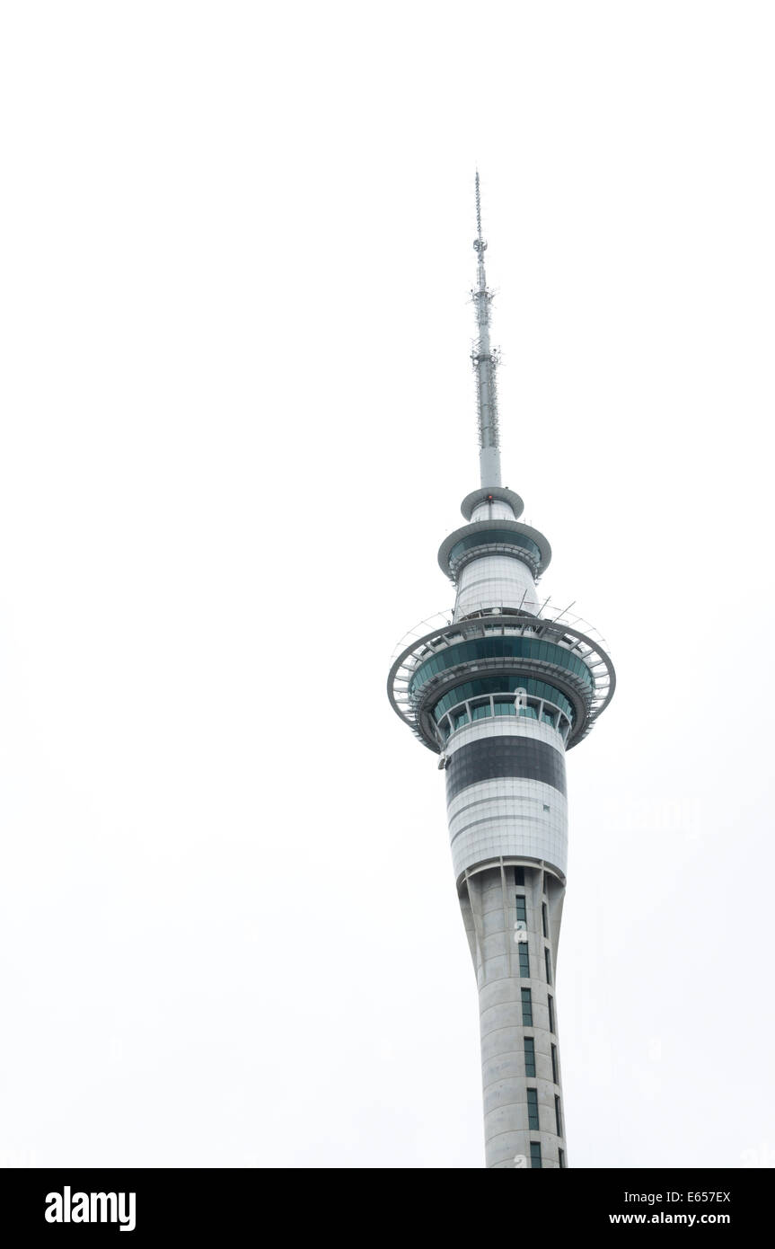 Sky Tower, Auckland, North Island, New Zealand - Stock Image