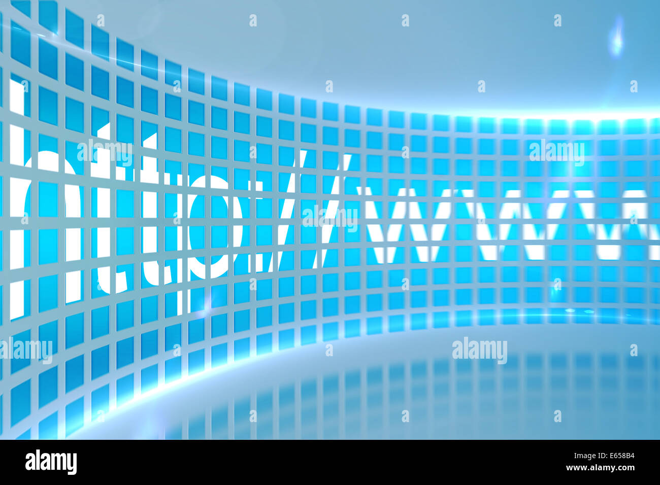 Http address on digital screen - Stock Image