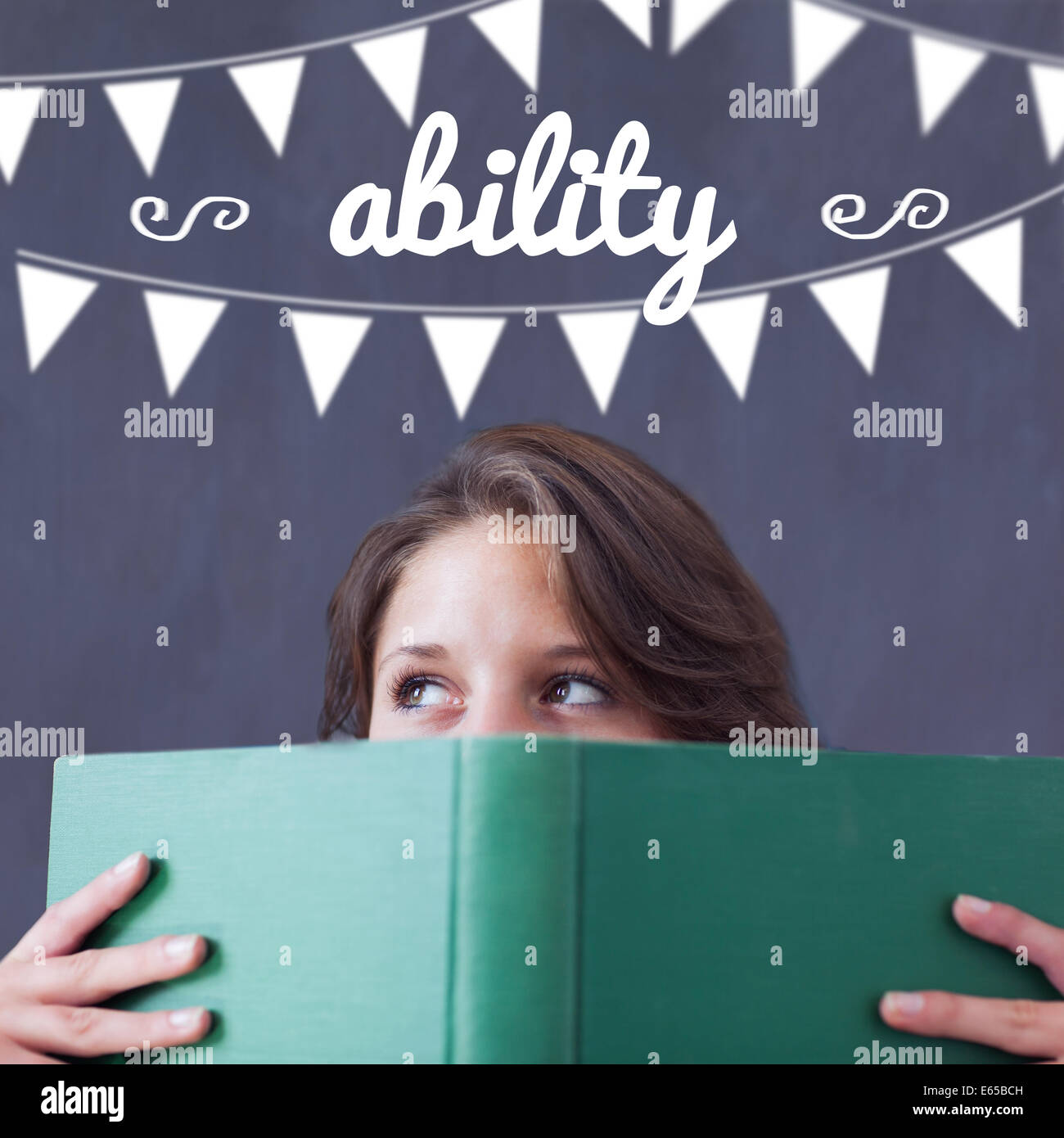 Ability against student holding book - Stock Image