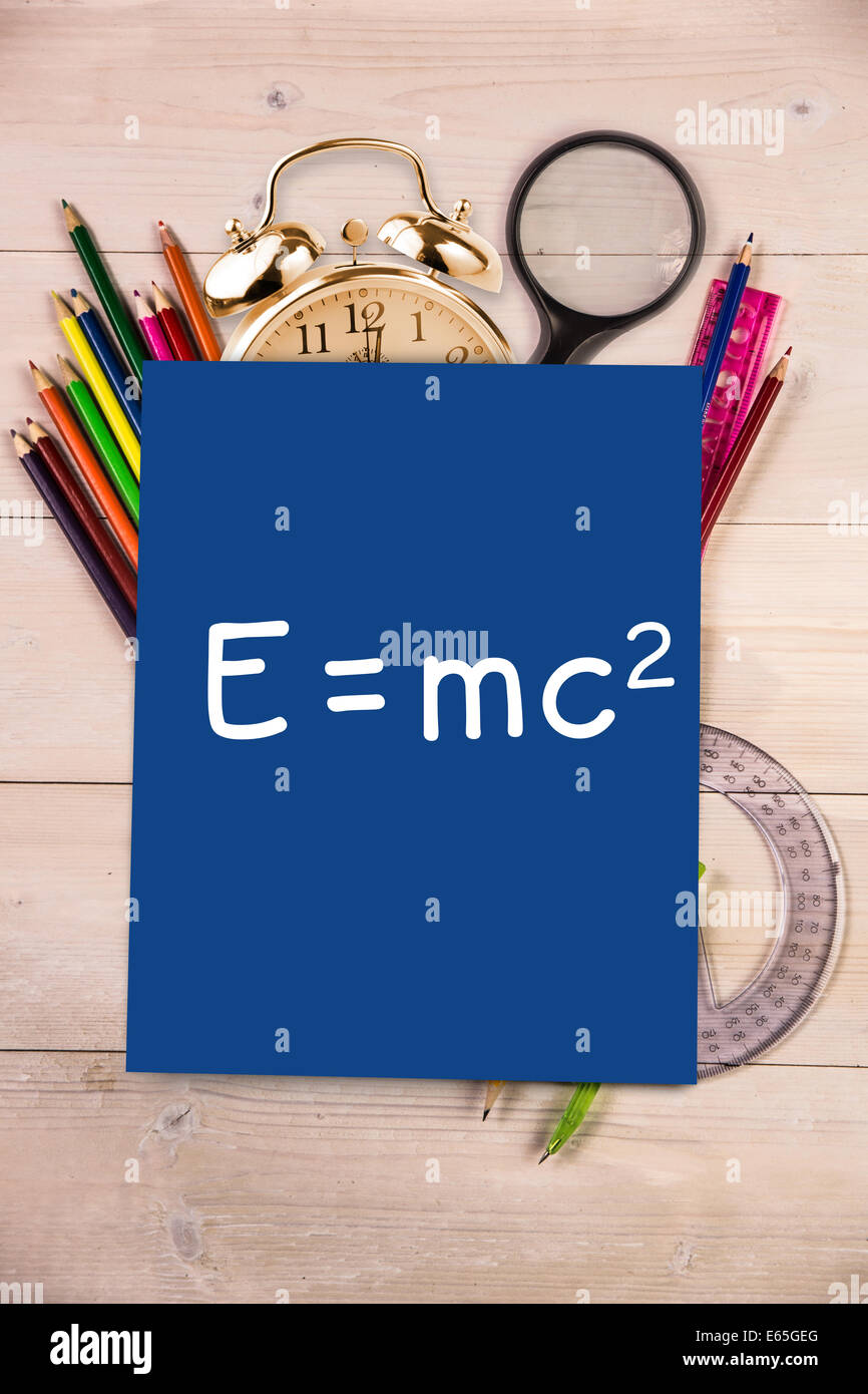 Composite image of theory of relativity - Stock Image