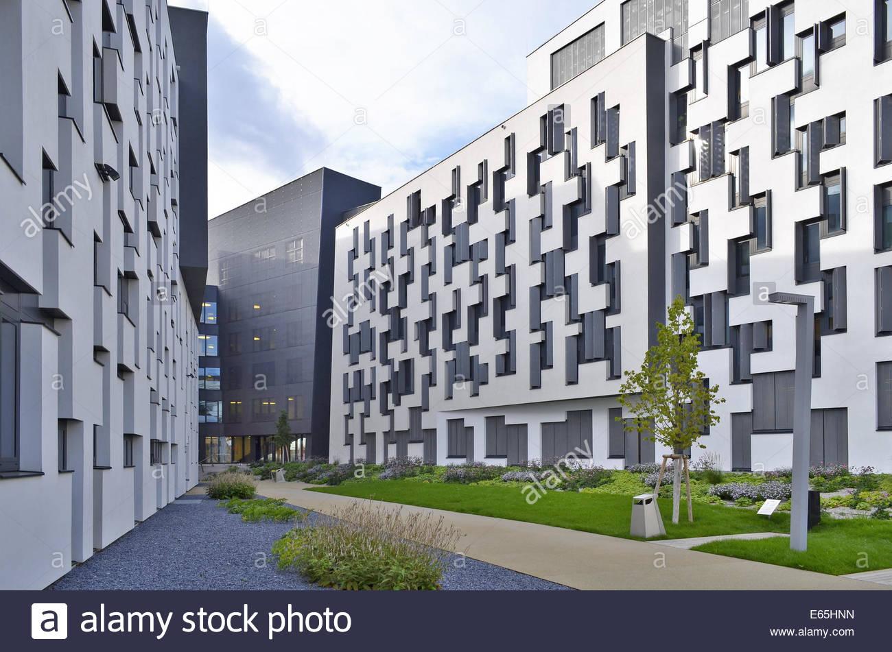 WU Wirtschaftsuniversität Wien (Vienna University of Economics and Business) campus Austria Europe - Stock Image