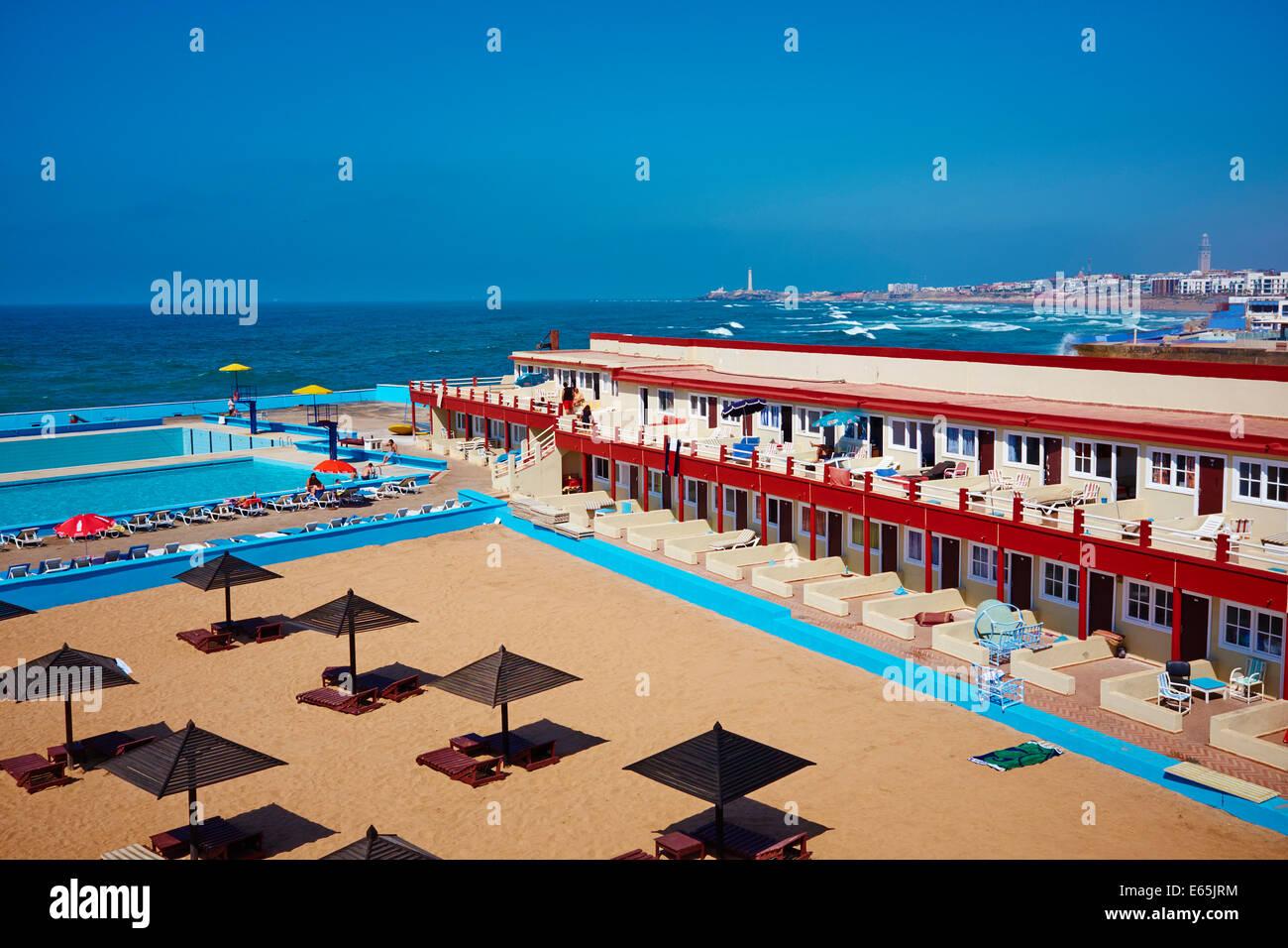 morocco casablanca the corniche miami beach stock photo. Black Bedroom Furniture Sets. Home Design Ideas