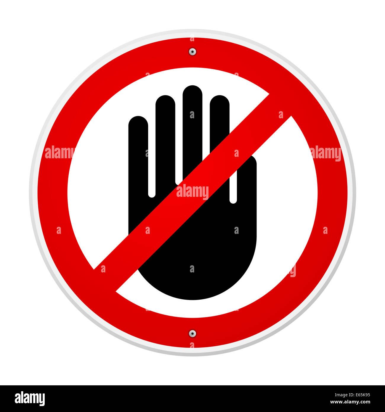 Stop Hand Symbol - Stock Image