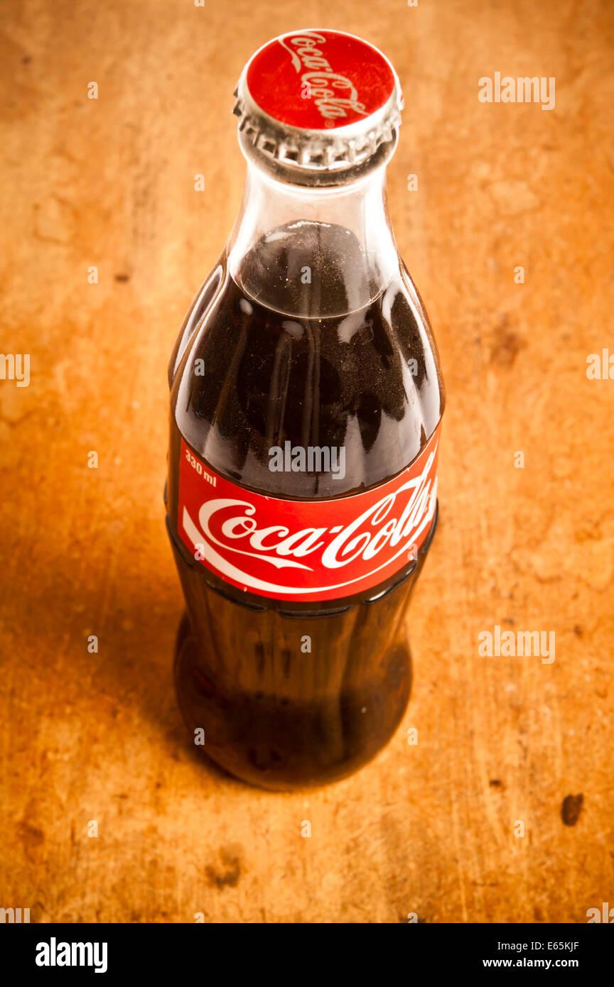 vintage Coca cola bottle - Stock Image