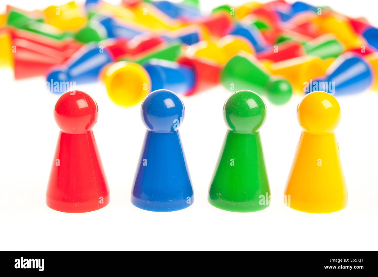 colourful plastic counters - Stock Image