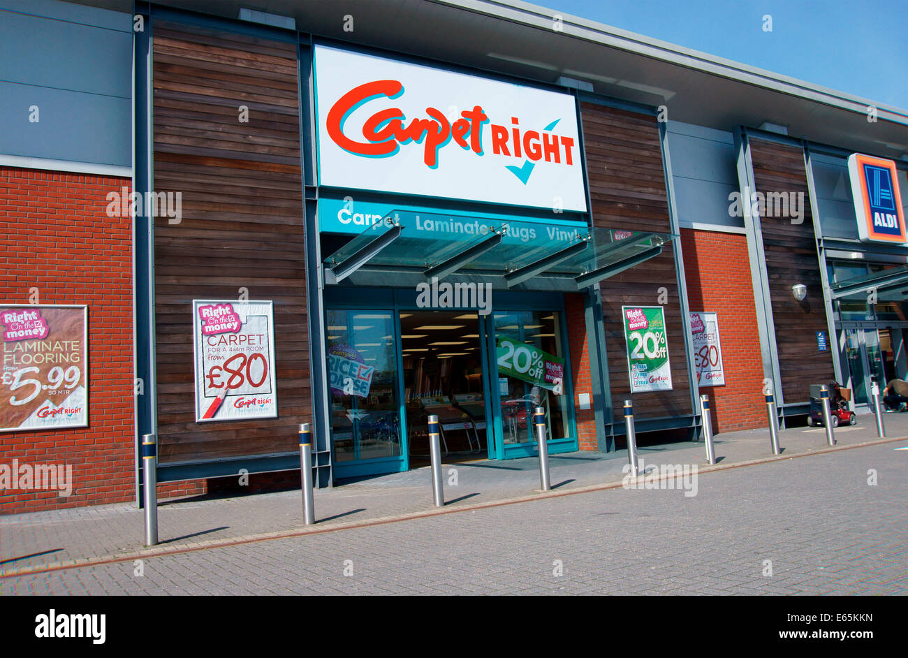 Carpet right Store, Havant, Hampshire, UK - Stock Image
