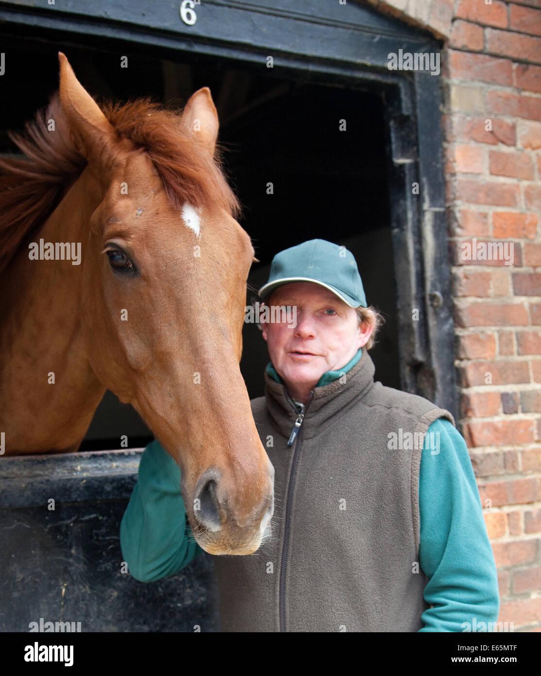 Racehorse trainer Paul Webber - Stock Image