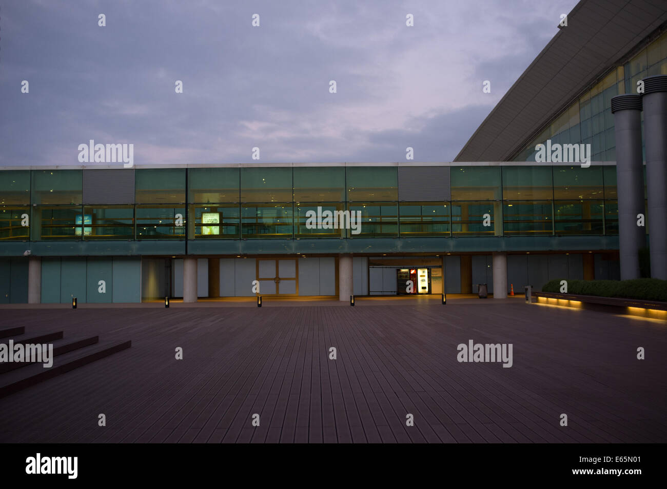 T1 Barcelona airport terminal. - Stock Image