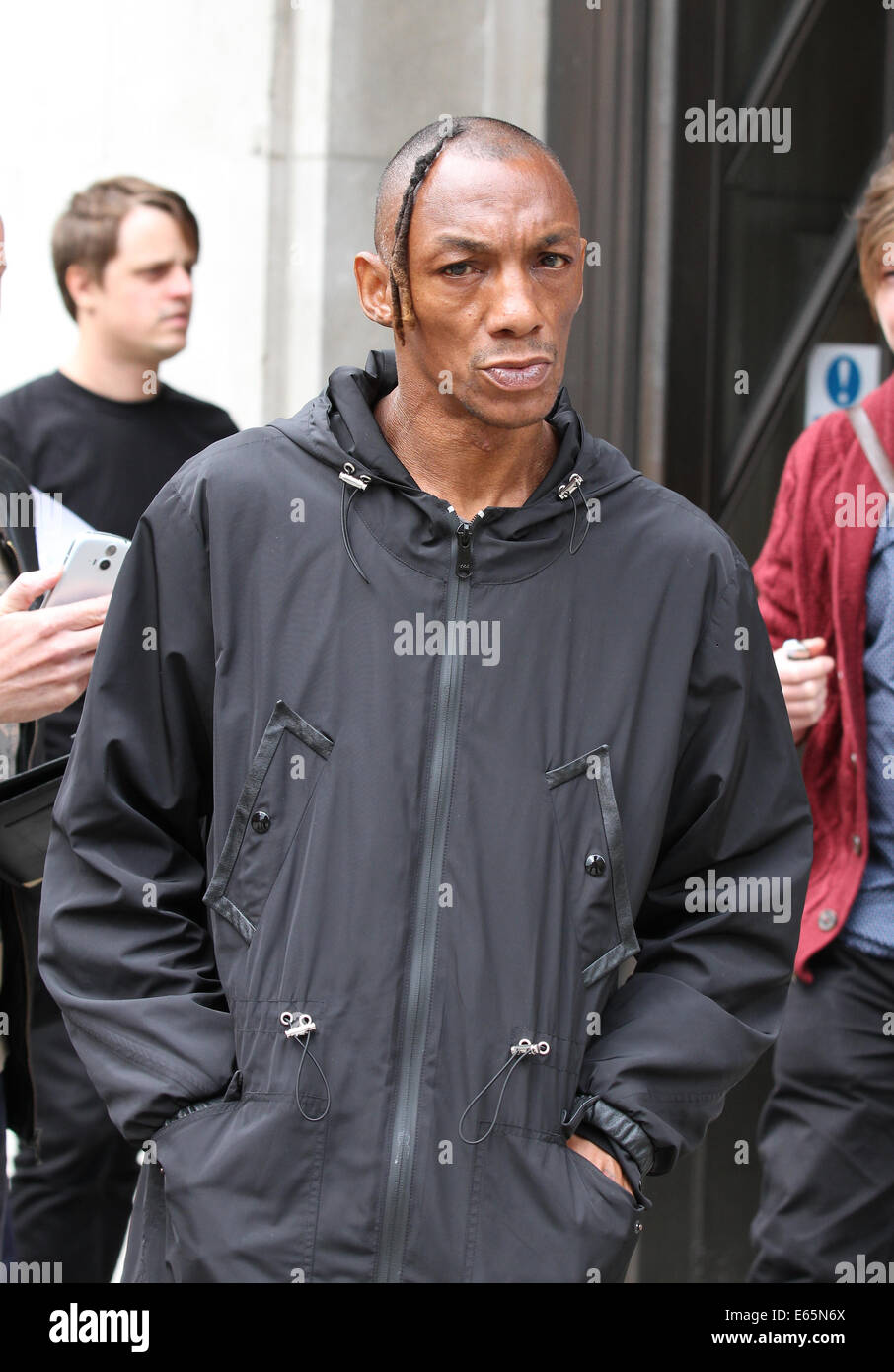 London, UK, 15th August 2014. Tricky seen at the BBC studios in London, UK - Stock Image